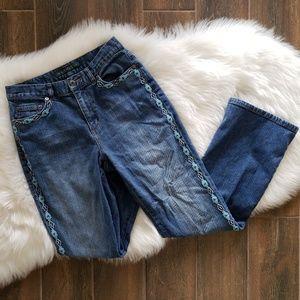B2G1 Ralph Lauren Southwestern Beaded Denim Jeans